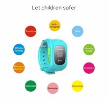 2015 New design for Mini Kids GPS Tracker Smart Watch by GPS+LBS locate