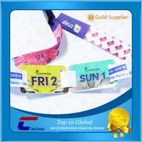 Promotional Eco-friendly OEM Woven Fabric Wristband/Woven Bracelet