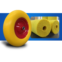 370mm diameter flat free pu foam wheel for wheelbarrow