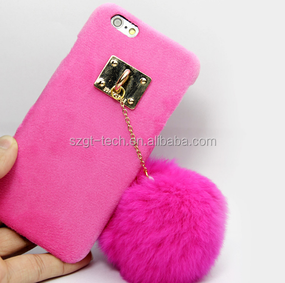 Tassel ball fur Case For apple iPhone 7 7Plus,fur leather Case for For iPhone 7 7Plus , for iPhone 7 TPU bumper Case