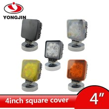 4 inch square shape plastic light cover with 6 colors