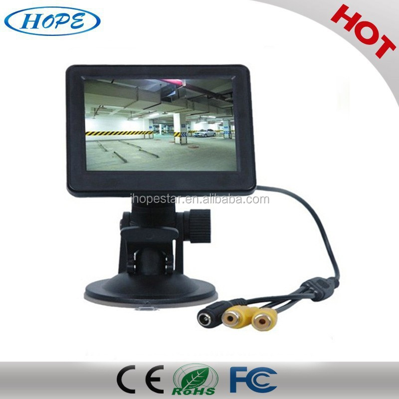 3.5 inch CCTV LCD Monitor 320 x 240 Chinese / English / Spanish For Security