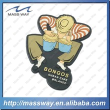 funny gift custom sleep 3D soft PVC rubber fridge magnet