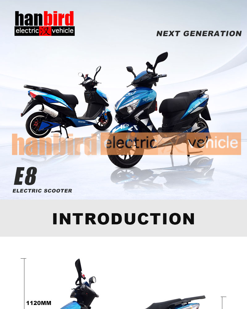 3000w Chinese Fat Electric Beach Cruiser Scooter with Large Lcd Meter