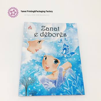 Custom language full color hardcover children book printing