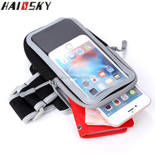 HAISSKY 7'' Universal Waterproof Running Sports Armband Case For iPhone 7 6 6S Plus For Galaxy S7/S7 Edge/S6/Edge/Plus Arm band