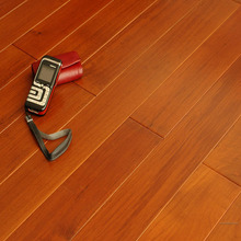 C&L prefinished natural color Burma Teak engineered flooring