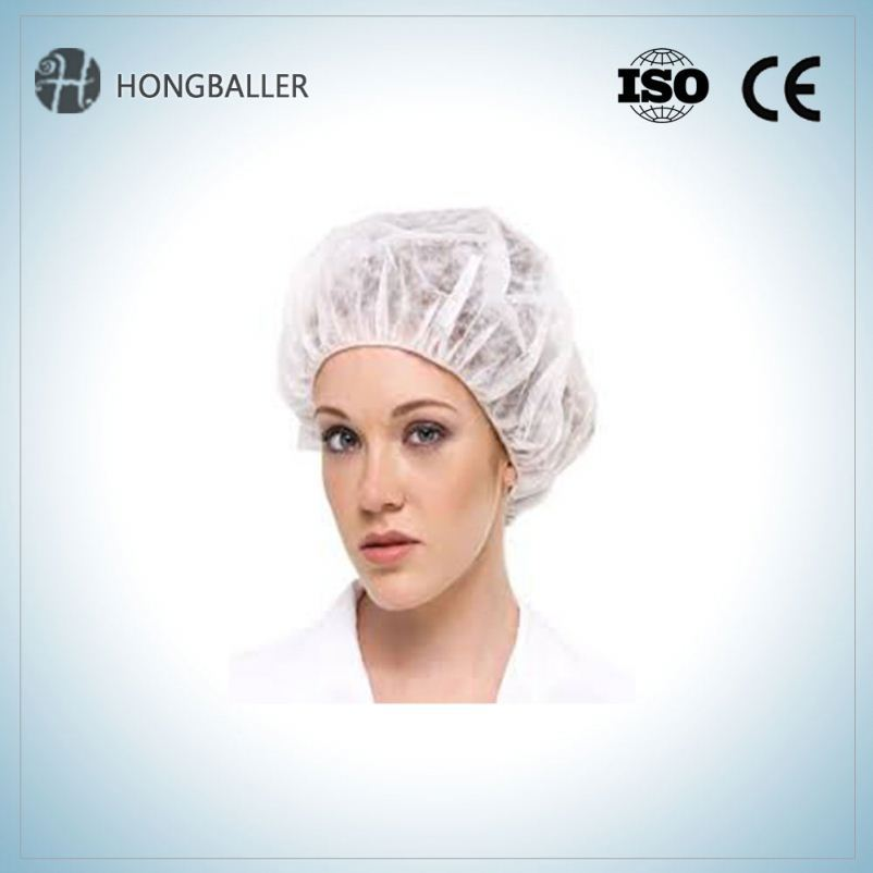 Disposable And White Pp Nonwoven Chef Hat Cap Fashion In The Restaurant Tranning School For Cooking