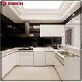 China manufacturer kitchen cabinet white lacquer high gloss finish MDF door panel modern furniture kitchen cabinet