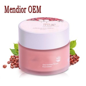 Mendior Private label Mineral mud facial mask Whitening Organic Red bean mud mask for brightening complexion