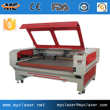 co2 laser auto feeding laser cutter small fabric curtain machine automatic laser cutting machine MC1610