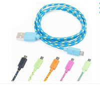 High Quality Durable Micro USB Data Cable Nylon Braided for Samsung Android