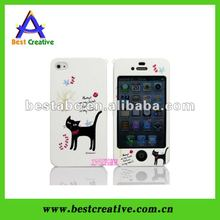 Cartoon Cat Front And Back Housing For Iphone 4