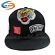 custom Applique baseball hats black with badge hat types