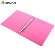 Custom Pink PU leather 4 rings holes folder b5 ring binder with logo embossing