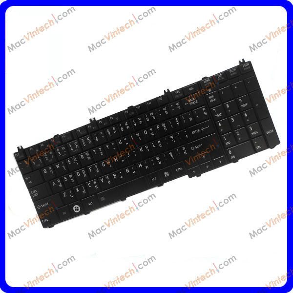 Wholesale Laptop Thai keyboard For Toshiba Satellite C650 C655 C655D C660