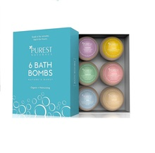 Private label supplied OEM bath bombs fizzy for relaxion and spa gift sets
