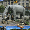 My-dino animatronica animal prehistoric elephants sculptures