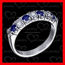 Rainbow Mystic Blue Fashion White Fire Opal Silver Stamped Rings