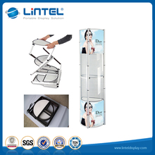 more shining spiral tower structure aluminum rotating portable twister tower showcase for all kinds of exhibition