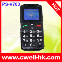 V703 Elder mobile phone with emergency call button torch and big sound