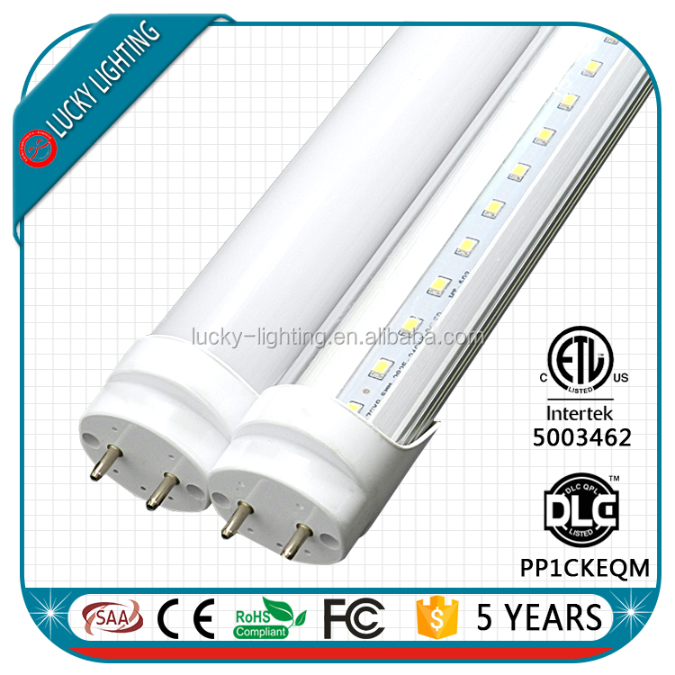 Dimmable T8 18W LED Tube light 100-277V dlc 4ft t8 led tube