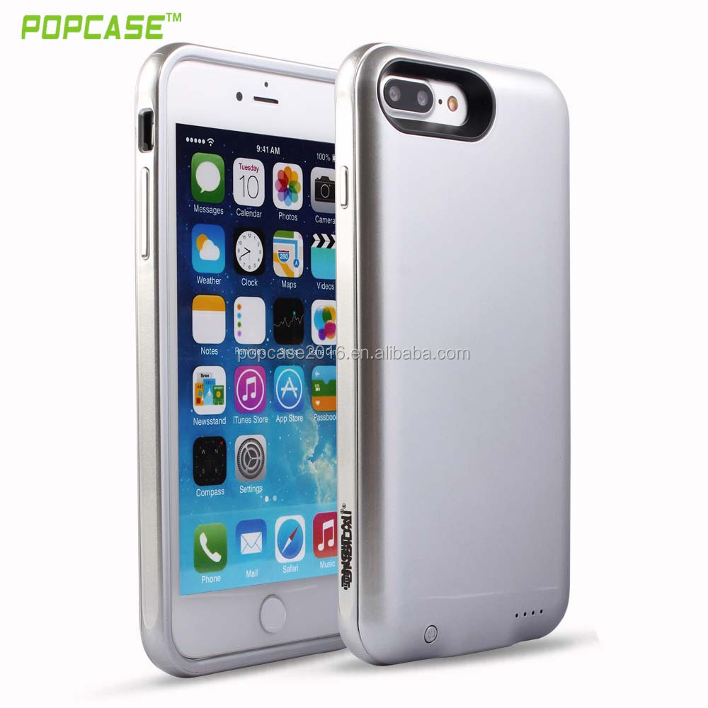 High quality plastic battery charger case cover for Iphone 7 plus