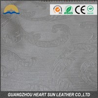 Good embossed faux furniture leather/ decorative leather