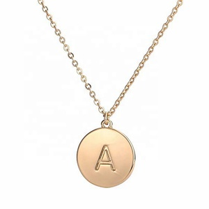 MECYLIFE Stainless Steel Dainty Fashion Women Gold Jewelry Necklace Alphabet Letter Necklace