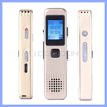 Time Synchronization Voice Activated Recorder 8GB Mini MP3 Digital Voice Recorder