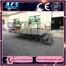 ACS Adjustable aluminum frame plywood cover choral stage/riser with carpet