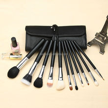 Deluxe wholesale new design top-quality soft travel synthetic beauty needs cosmetic brush set with bag