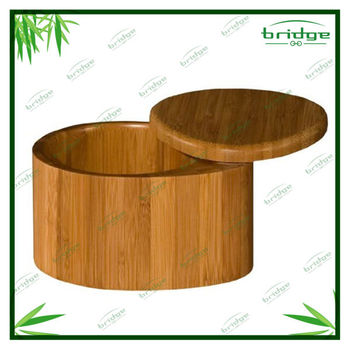 Totally kitchen salt box storage bamboo salt box