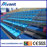 Outdoor metal dismountable retractable seating system for sports center
