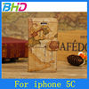High quality flip cover case for Iphone 5c housing case