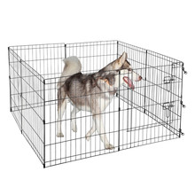 Black Wire Folding Exercise Playpen for Dogs