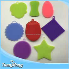 Amazon BPA Free Various shapes Antibacterial Silicone Dish Scrubber