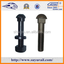 Q235 railway track bolt fish bolt for railway fastening