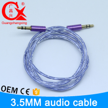 hot selling colorful hight quality gold piated interface 3.5mm pvc jacket rca cable