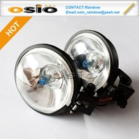 3 inch Round 87 Fog Light SET Sealed Beam Auto Halogen Lamp H3 with support