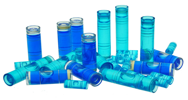 High quality plastic cylinder spirit bubble level vials