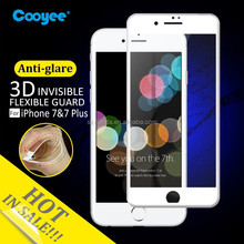 3D curved anti-glare matte PET screen film for iphone 7 plus colorful protector