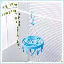 2016 China fashion plastic clotheshorse hanging sock pegs plastic
