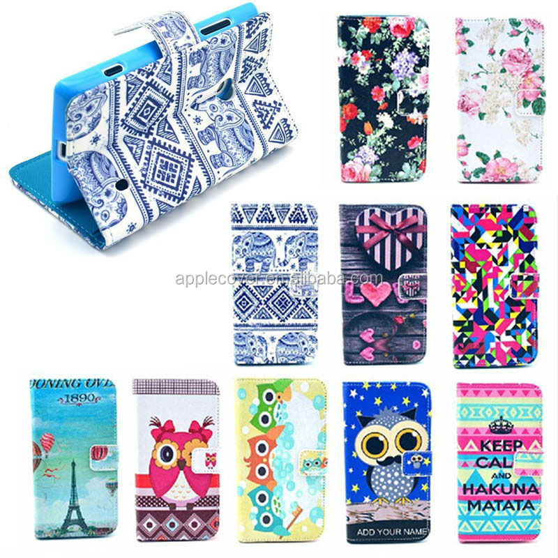 Fashion Girl Style leather wallet stand case for Nokia Lumia 520 , for Nokia Lumia 520 case leather low price