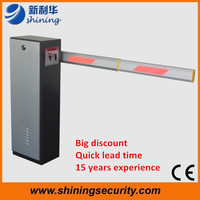 Automatic car barrier for parking lot