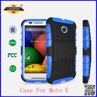 The Newest Pc Tpu Hybrid Stand Shockproof Case For Moto E Laudtec