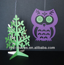 Owl and tree design OEM gift box ornament
