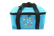 custom polyester 600D cans thermal frozen food lunch insulated cooler bag