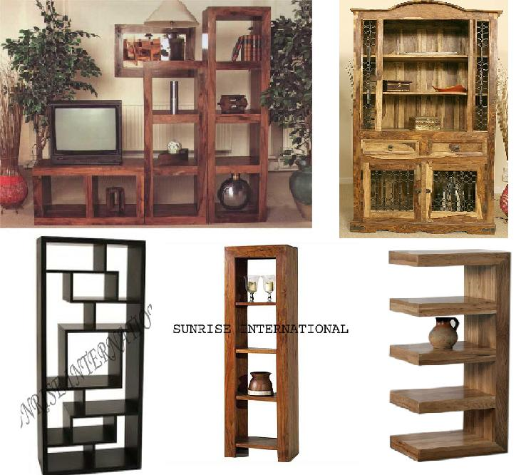 Solid Wood Furniture Wooden Bookcase Manufacturers Exporters India