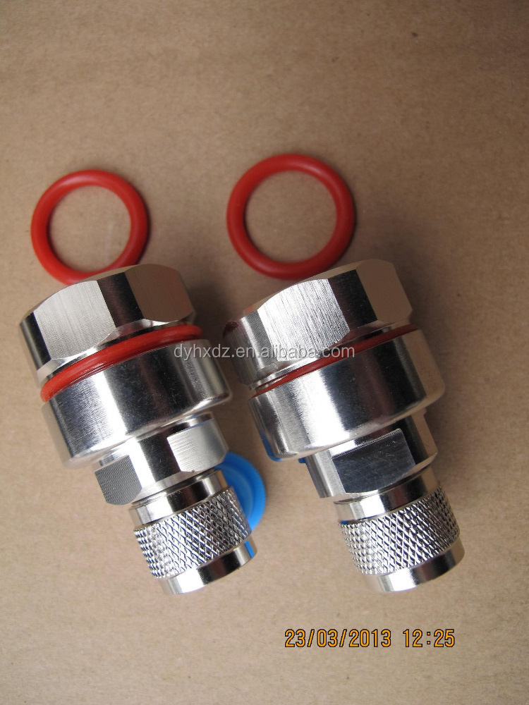 RF N type straight male connector for 7 8 cable LCF